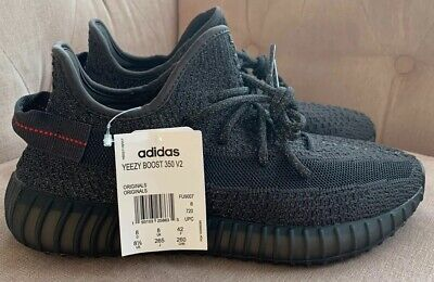 Adidas Yeezy 350 V2 Black Static Reflectives Uk 8 Mens Trainers White Boost DSWT