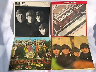 The Beatles VINYL JOB LOT Sgt Peppers, 1962-1966, For Sale / With The Beatles