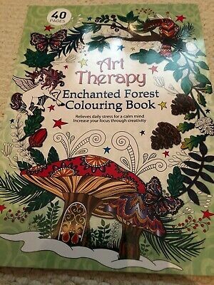 NEW Art Therapy Adults Enchanted Forest Colouring Book Creative Anti Stress