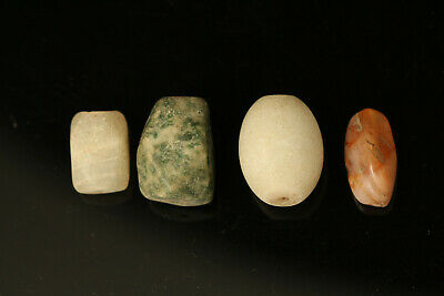 2000 + Years Old Ancient beads, Lot of 4 Ancient Mix Beads  Size Large 18x13 mm