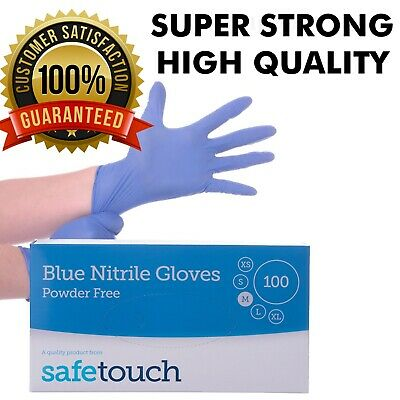 Box of 100 Nitrile Gloves Disposable - Powder Free Latex Free Clinical
