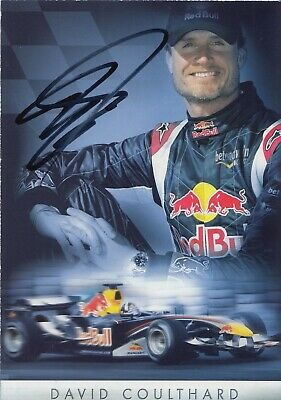 David Coulthard Hand Signed Promo Card - Formula 1 Autograph F1 - Red Bull.