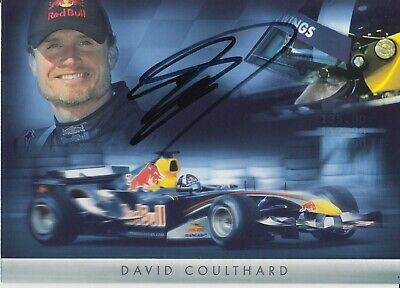 David Coulthard Hand Signed Promo Card - Formula 1 Autograph F1 - Red Bull 1.