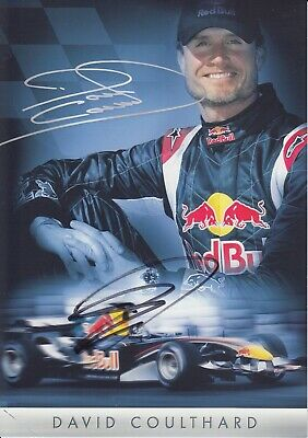 David Coulthard Hand Signed Promo Card - Formula 1 Autograph F1 - Red Bull 2.
