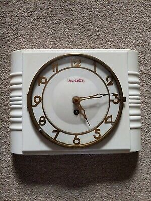 Vintage French Vedette Bakelite Wall Clock 1950's