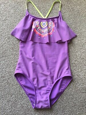 Girls Lined At Front Only Swimming Costume Age 12 Years From Tu Lilac Mix