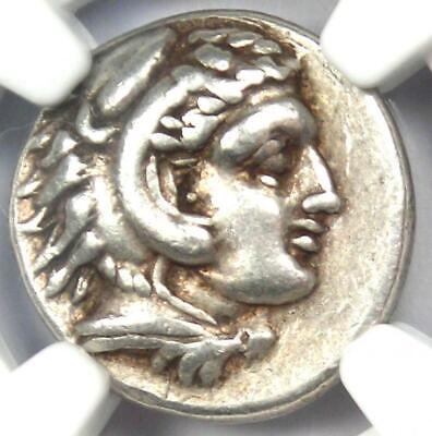 Alexander the Great III AR Drachm Silver Coin 336 BC - Certified NGC VF