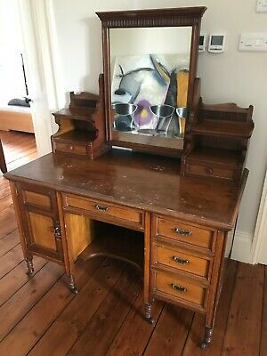 Antique Dressing Table - Includes Mirror