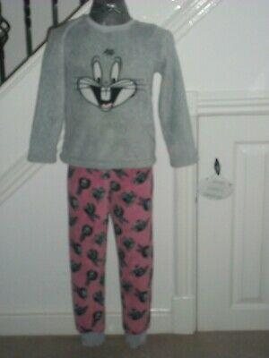 Looney Tunes Bugs Bunny Girls Pyjamas (Age 7/8)