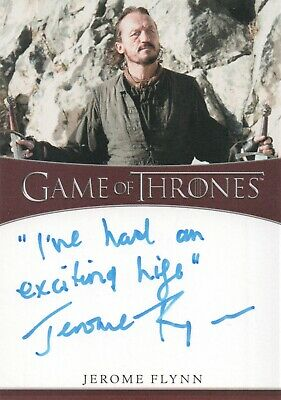 Game Of Thrones Season 8, Jerome Flynn (Bronn) Inscription Autograph Card