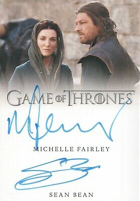 Game Of Thrones Season 8, Michelle Fairley / Sean Bean Dual Autograph Card