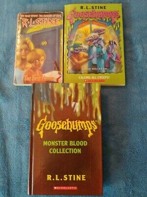 Goosebumps Monster Blood Collection(1,2 and 3) First Edition by R. L. Stine