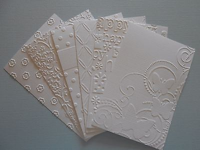 Embossed cardstock pieces - Card toppers, Mixed design x 6