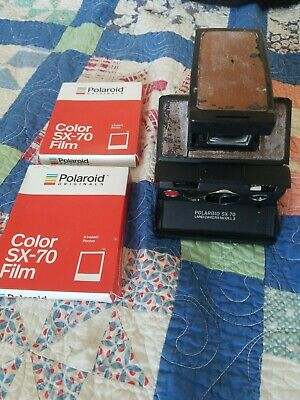 Polaroid SX-70 Instant Camera-Tested&Working- w/ 2 packs sx-70 color film