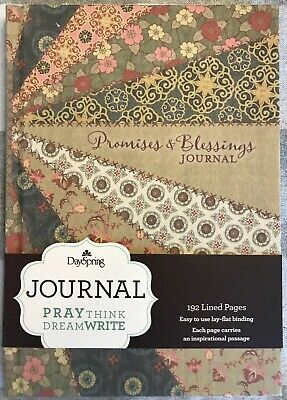"""Hardcover Floral Quilt """"Promises & Blessings"""" Inspirational Journal Bible Verses"""