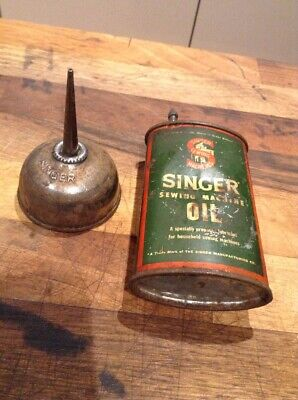 Vintage Singer Oil Can and Oil Dropper