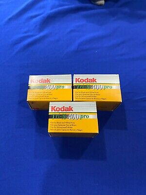3 Pack Kodak Tri-X 400 Pro Black And White 36 Exp. Film Sealed, Expired 01/2005