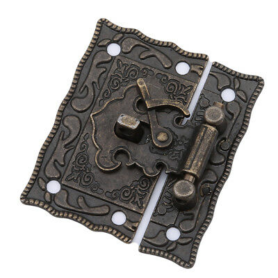 Jewelry Wooden Box Suitcase Case Trunk Toggle Hasp Latch Catch Clasp Lock T