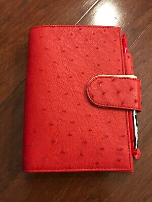 Gillio Firenze Travelers Notebook TN A6 Appunto Real Ostrich Red X