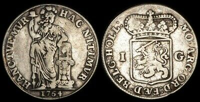 NETHERLANDS -Holland: 1764 Gulden. KM-73