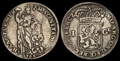 NETHERLANDS-Gelderland: 1762 Gulden mm knotted tree. KM-65.6