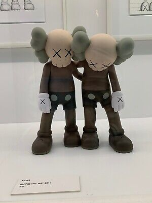 KAWS NGV -Along the Way (Brown) Vinyl sculpture Open Edition (Unopened box)