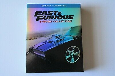 Fast and Furious 8-Movie Collection Blu-ray 9-Disc Set With Slipbox