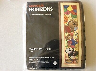 Vintage Unused Quality Monarch Horizons Long Stitch Kit - Making Whoopee