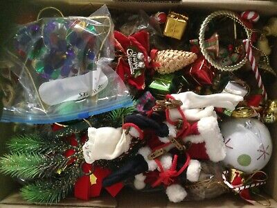 Box of 100 plus Assorted Christmas Tree Baubles  & Decorations  lot 5