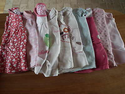 Baby Girl clothes, shirt, long sleeve , 3-6 months, 10 items    (30)