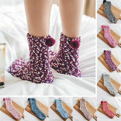Pair Socks Women Soft Fluffy Cosy Bed Sock Winter Warm Casual Home Girls Gift