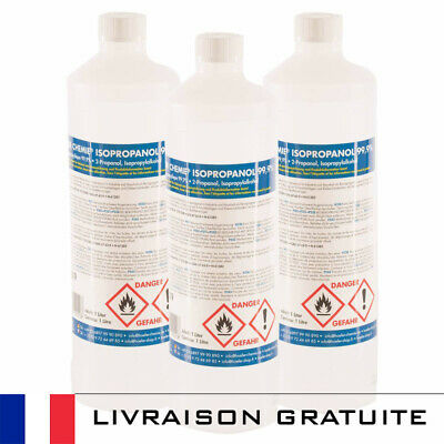 Promo - 1 Litre | Ipa 99.9% Pure | Alcool Isopropylique / Isopropanol 3M