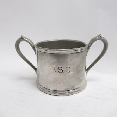 Antique Electroplated Britannia Metal Pewter Two Handled Pot/Cup Maple&Co London