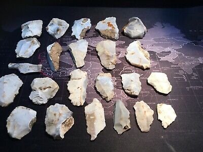 Group Of 23 Pieces Of Early Neolithic Worked Flint.prehistoric