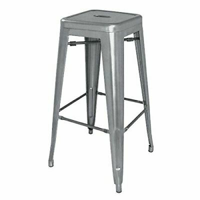 4X Bolero Gun Metal Steel Bistro High Stool Chair Furniture Restaurant 760Mm