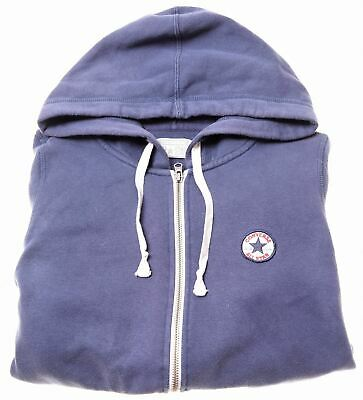 CONVERSE Boys Hoodie Sweater 15-16 Years Blue Cotton  R007