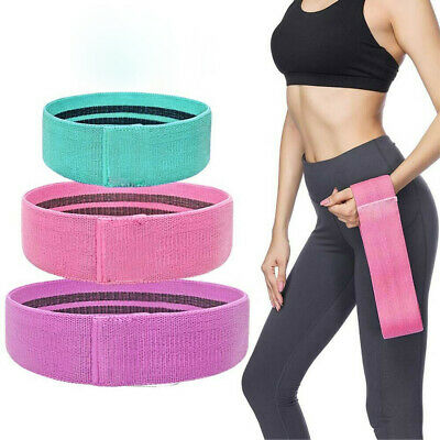 Fabric Resistance Bands Butt Exercise Loop Circles Legs Glutes Women Yoga Home