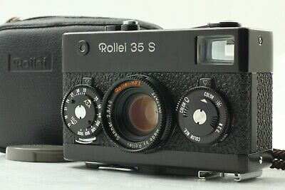 [ Mint ] Rollei 35 S Black Film Camera + Sonnar 40mm f/2.8 Lens Case Strap JAPAN