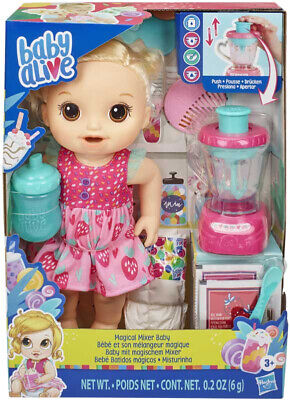 Baby Alive Magical Mixer Strawberry Shake Blonde by Hasbro New & Sealed