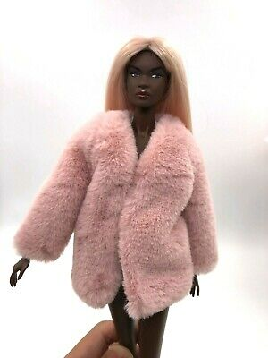 1//6 ooak Outfit Pink Fur Jacket for Fashion Royalty Poppy  Integrity Doll