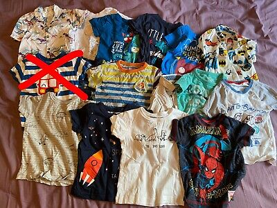 15 x short sleeve tops / t shirts / shirts - Boys 9-12 Months