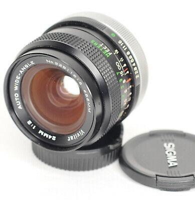 Vivitar 24mm f2.0 Manual Focus lens With  Canon FD Mount (5538BL)