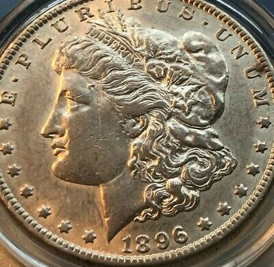 1896 O Morgan Silver Dollar HIGH Grade Rare KEY About Uncirculated