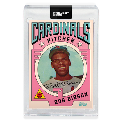 Topps PROJECT 2020 Card #7 - 1954 Bob Gibson by Grotesk Pre-Sell