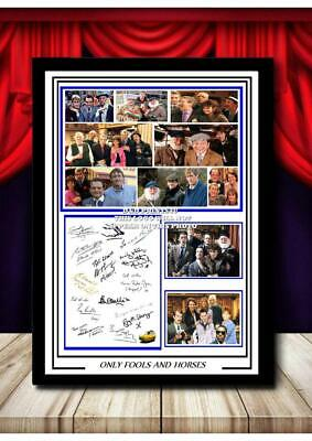 017 ONLY FOOLS AND HORSES SIGNED REPRODUCTION PRINT SIZE A4