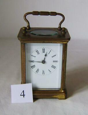 Good French Brass Carriage Clock with key : C.19th: Ticking, To Restore