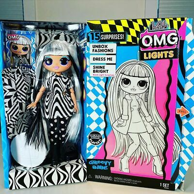 Bambola Lol Surprise Omg Lights Groovy Babe Beatnik Queen Bee Candylicious Doll