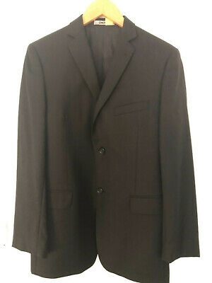 Dkny 18R Boys / Mens Black 100% Wool Blazer Suit Jacket