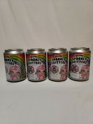 Lot Of 4 Poopsie Sparkly Critters Can New Spit Or Poop Slime