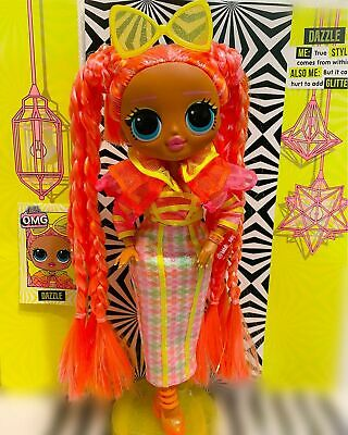 Bambola Lol Surprise Omg Lights Dazzle Glitter Queen Doll Queen Bee Candylicious
